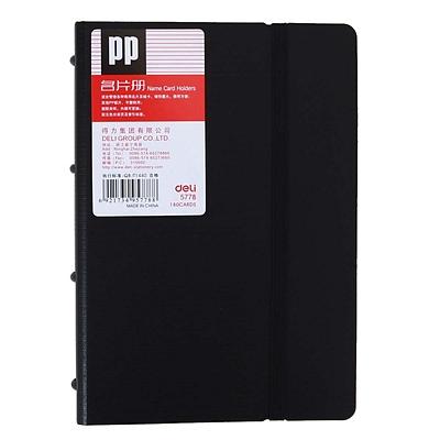 得力 发泡PP名片册 (黑) A6/180枚  5778