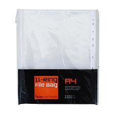 树德 11孔文件保护袋 A4 100个/包  EH303