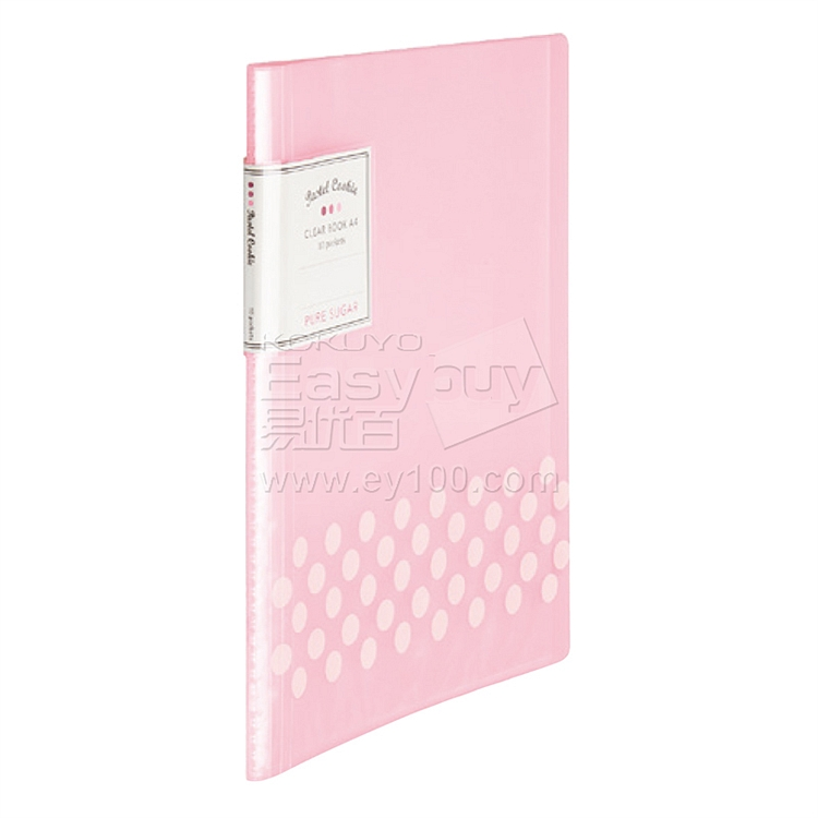 国誉 淡彩曲奇资料册 (粉) A4 10袋  WSG-CBCN10P