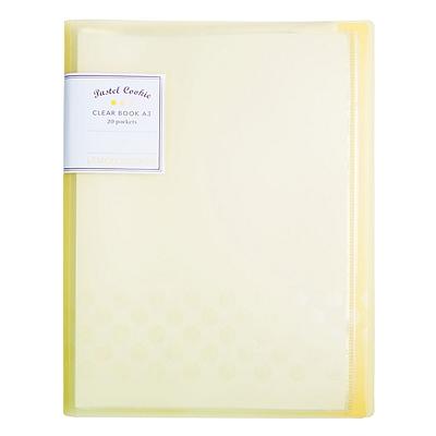 国誉 淡彩曲奇资料册 (黄) A3对折 20袋  WSG-CBCW28Y