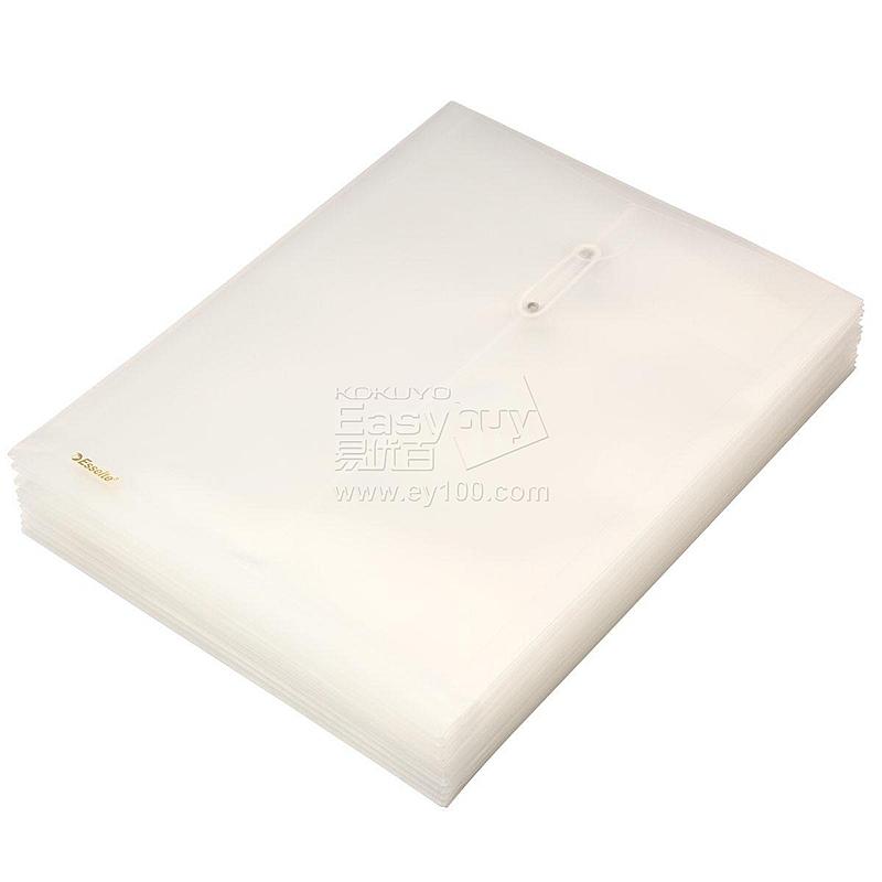 易达 缠绳档案袋(竖式) (白) 12个/包  700340