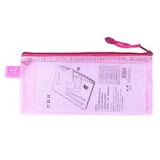 馳輝 網格拉鏈袋 (梅紅) 票證用  CH813