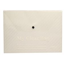 远生 透明按扣式文件袋 (透明) A4  US-W209