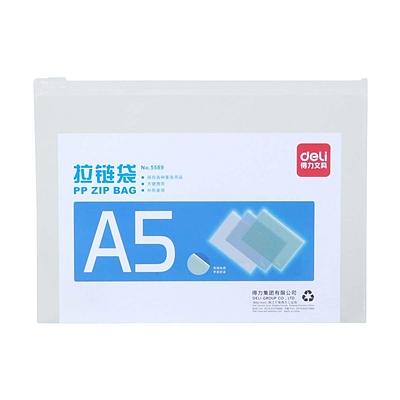 得力 拉边袋 (混色) A5  5589