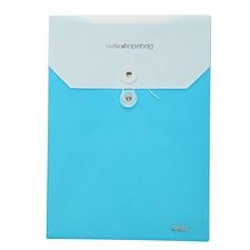 得力 缠绳档案袋 (蓝) A4竖  5519