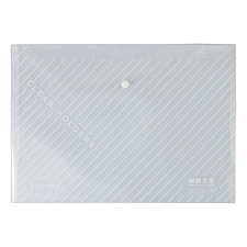 卓联 纽扣袋 (透明白) A4 横式  209-18