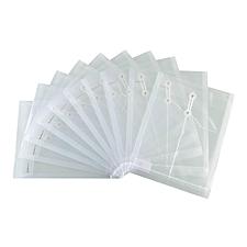 齐心 缠绳透明档案袋 (透明) A4  F118-X