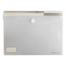 齐心 透明粘扣袋 (透明) A4 横式  A1769-X