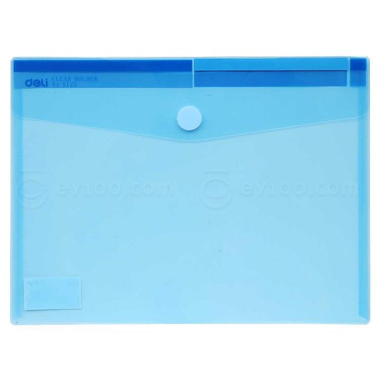 得力 粘扣文件袋 (混色) A4 横式  5504