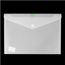 树德 透明粘扣式资料袋 (白) A4  A1812