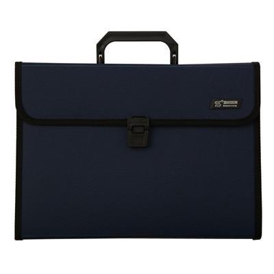 钊盛 手提风琴包 (蓝) A4  ZS-4303TL
