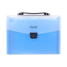 树德 手提风琴包 (蓝) A4  A1349