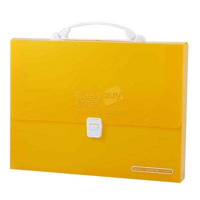 国誉 COLOR TAG文件档案盒 (透明黄) A4E  WCN-THC6110Y