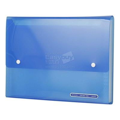 国誉 COLOR TAG风琴包 (透明蓝) A4 13格  WCN-TDF6110B