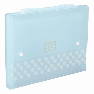 国誉 淡彩曲奇风琴包 (蓝) A4 13袋  WSG-DFC130B