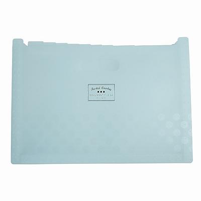 国誉 淡彩曲奇可立式风琴包 (蓝) A4 横式 13格  WSG-DFCS130B