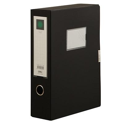 得力 粘扣档案盒 (黑) A4  5604
