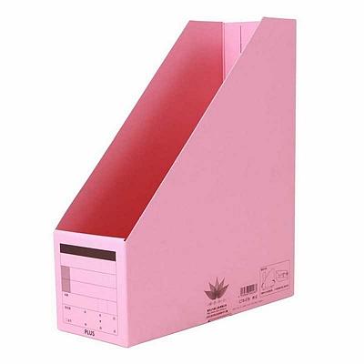 普乐士 竖型文件盒 (粉红) A4  C78-031