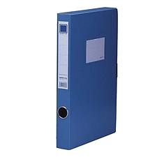 金得利 粘扣档案盒 (蓝) A4  F38