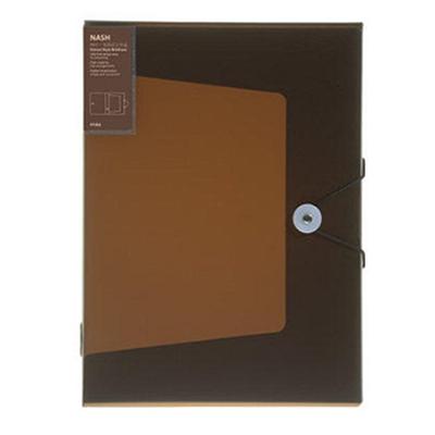时代良品 绳扣半透明档案盒 (咖啡) A4  SD-N201