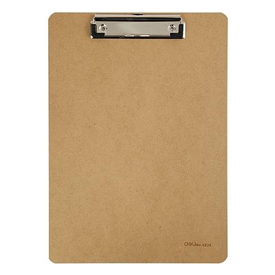 得力 木质书写板夹 (原木色) A4  9226平夹