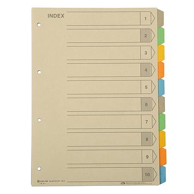 锦宫 彩色再生纸质分类索引 (彩色) 10级  907GS-10Y