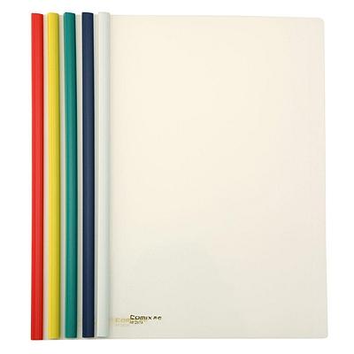 齐心 抽杆文件夹 (混色) 5个/包  HF287A