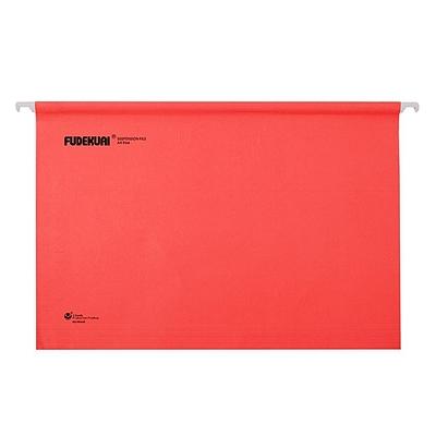 富得快 吊挂文件夹 (红) A4 25个/盒  98440