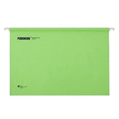 富得快 吊挂文件夹 (绿) A4 25个/盒  98440