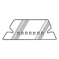易达 胶质索引插片 (透明) 25片/盒  94514