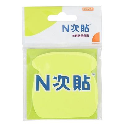 N次贴 轧型便条纸 (黄) 76*76mm  35002