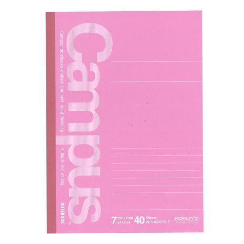 国誉 Campus笔记本 (粉红色) A5 40页W-NA547C-P