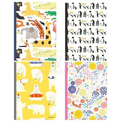 国誉 PP封套笔记本(动物园) (混色) A5/40页  WCN-DNA54-P14