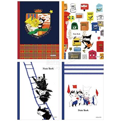 国誉 PP封套笔记本(邮便猫) (混色) A5/40页  WCN-DNA54-P13