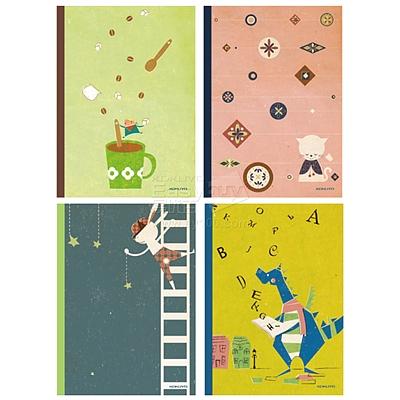 国誉 插画系列无线装订本(童话B) (混色) A5/60页  WCN-DNA56-J1