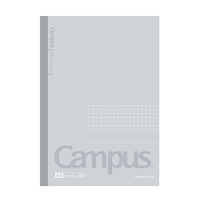 国誉 Campus无线装订方格笔记本 (灰) A5/40页  WCN-CNB3410-1