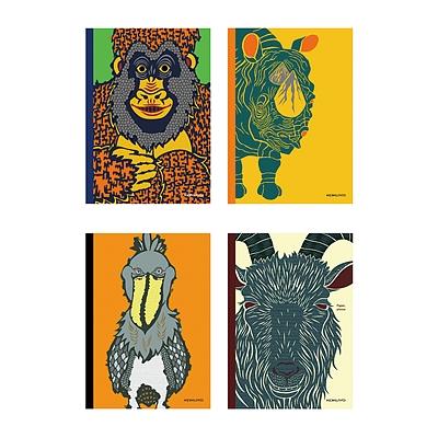 插画师系列无线装订笔记本(动物的脸)