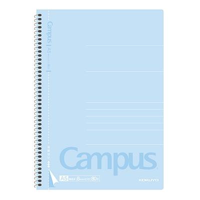 国誉 Campus螺旋装订易撕笔记本(经典系列) (浅蓝) A5/80页  WCN-CSN3810N