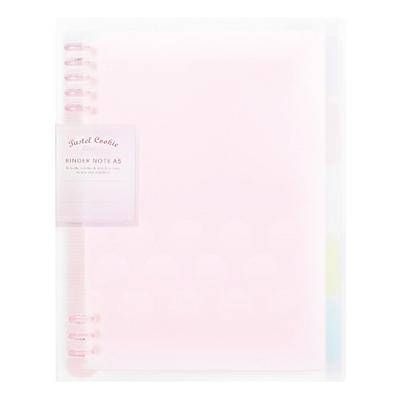 国誉 淡彩曲奇柔光系列紧凑型活页本 (粉色) A4/40页  WSG-RUYP60P