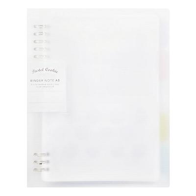 国誉 淡彩曲奇柔光系列紧凑型活页本 (透明) A4/40页  WSG-RUYP60T