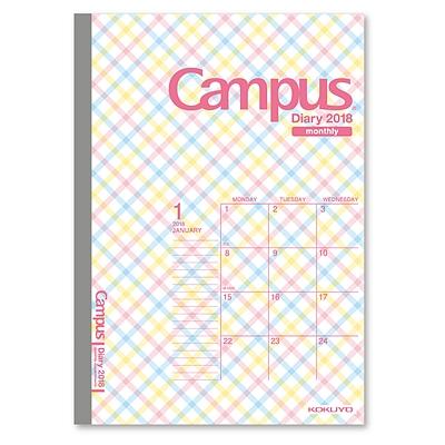 国誉 Campus2018年手帐 (彩粉格子) A5/32页  NI-CML6-A5-18