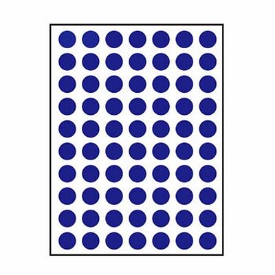 卓联 手写标签 (蓝) 直径10mm 70枚/张 12张/包  ZL-30