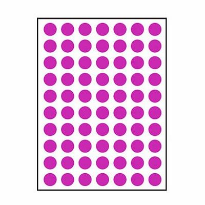 卓联 手写标签 (紫) 直径10mm 70枚/张 12张/包  ZL-30