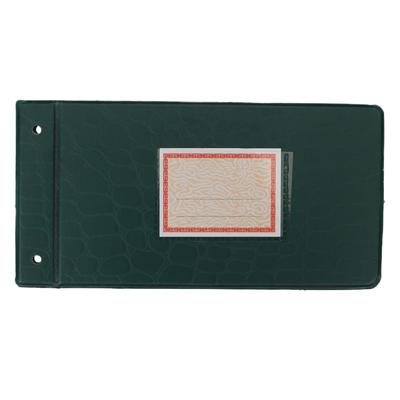 立信 塑料账夹 (蓝、绿) 35K(222*115mm)  2902-35