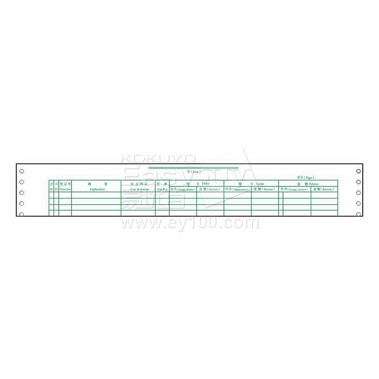 立信 外币日记账明细账 373*278mm  TW211
