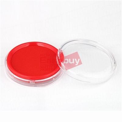 得力 印台 (红) 80mm  9863圆形