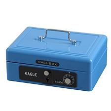 益而高 手提金庫 (藍) 中號  668M