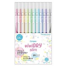 國譽 viviDRY彩色速干中性筆10色套裝(纖細款) (10色) 0.4mm  WSG-PR301-10P