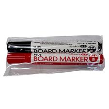 普乐士 白板笔2色袋装 (黑/红) 2支/袋  MK-RK