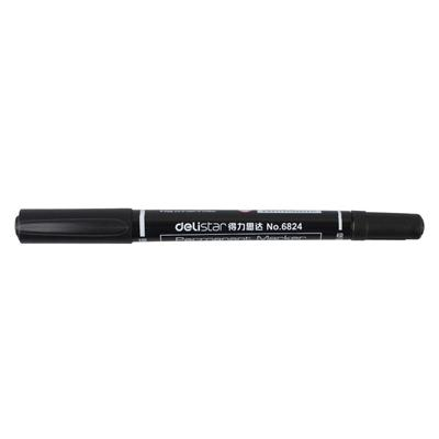 得力 思达小双头记号笔 (黑) 0.5/1.0mm  No.6824